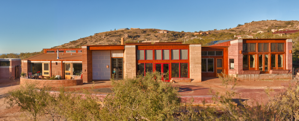 Quentin Branch Residence - Rammed Earth Construction
